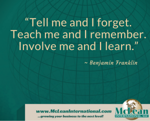 Ben Franklin quote Mclean international