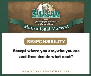 Motivational Moment – Responsibility