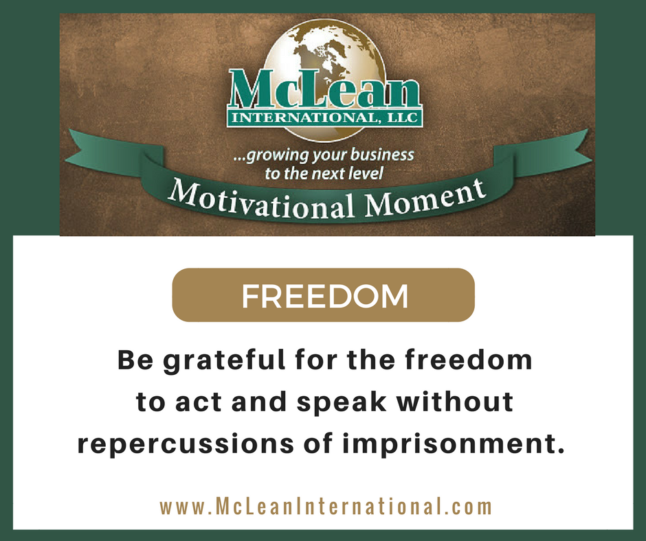 Motivational Moment Freedom