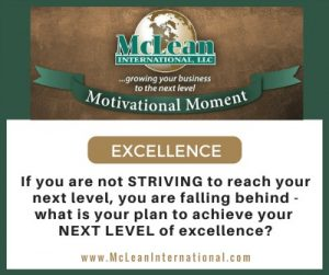 Motivational Moment – Excellence