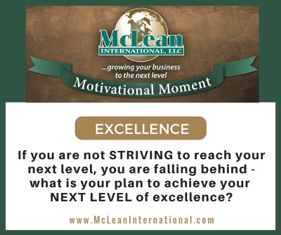 Motivational Moment - Excellence