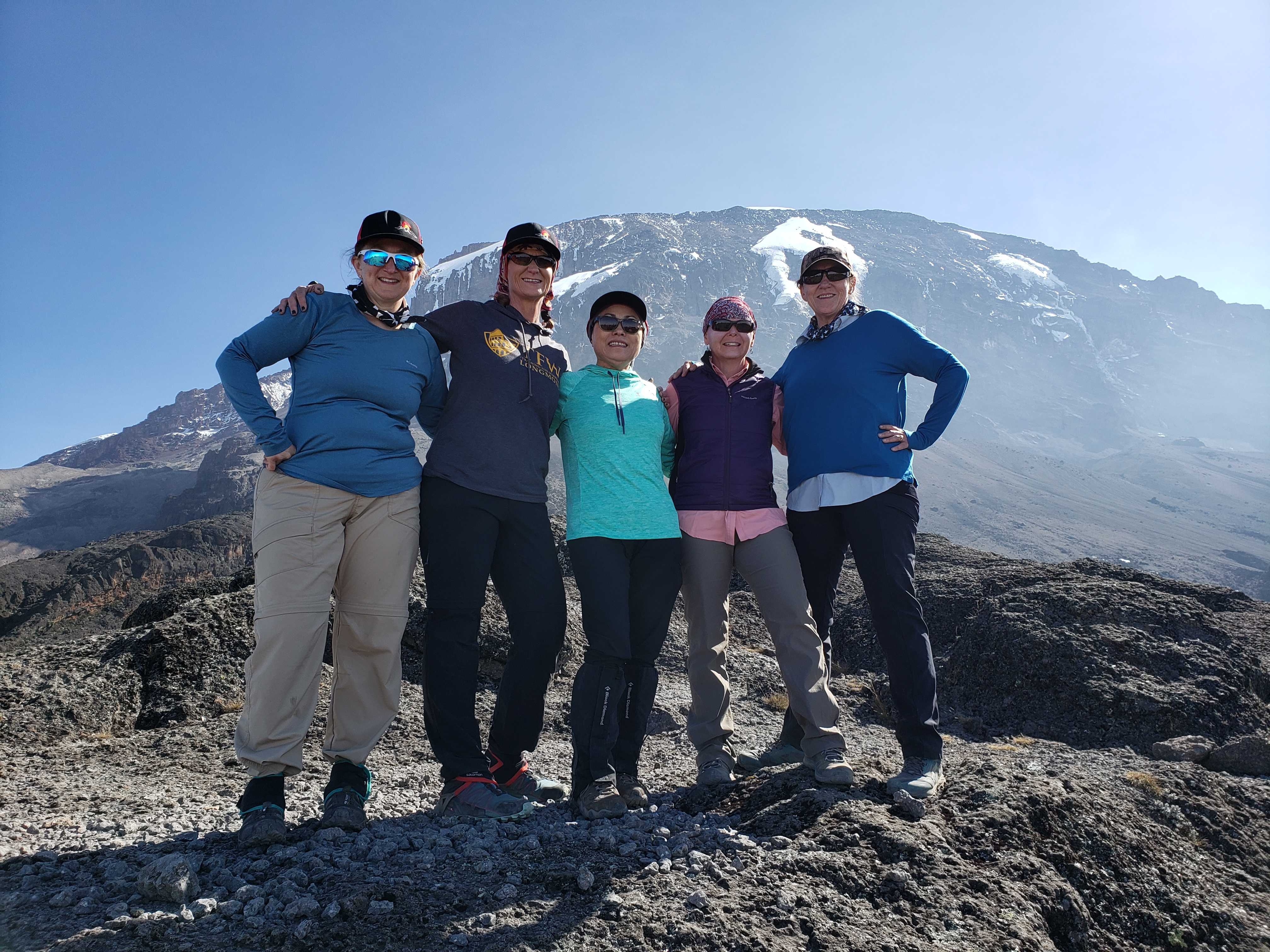 team climbing kilimanjaro