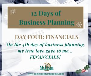Business Planning Financials
