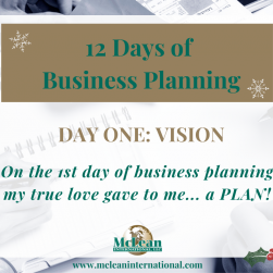 12 days of business planning - vision
